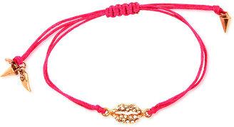 Rachel Roy Bracelet, Gold-Tone Pink Lip Charm Bracelet