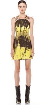 Versus Printed Tank Dress in Citron