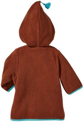 Zutano Cozie Zip Jacket With Hood-Chocolate-6 Months