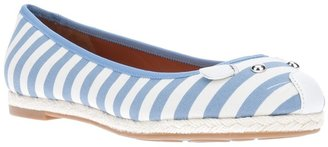 Marc by Marc Jacobs striped mouse ballerina