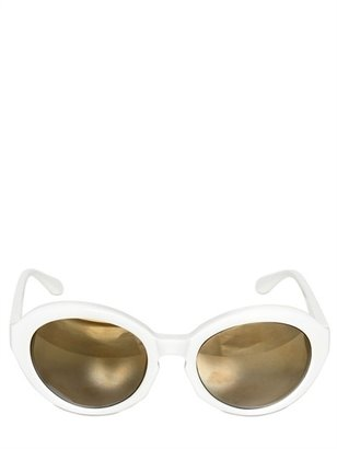 Moschino Rounded Acetate Sunglasses