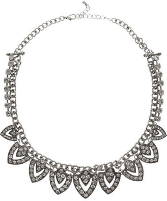 Kenneth Jay Lane Silver-plated crystal necklace