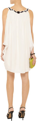 Temperley London Embroidered silk mini dress