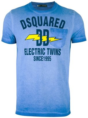 DSquared Dsquared2 'Electric Twins' printed t-shirt