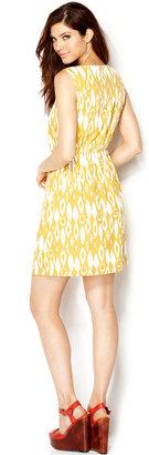 Bar III Printed A-Line Dress