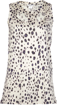 Carven Ikat Sleeveless Cut Out Top