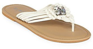 JCPenney Mixit® Strappy Jeweled Flip-Flop Sandals
