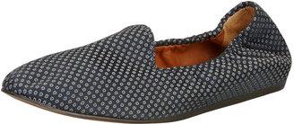 Lanvin Medallion Jacquard Flat Loafer, Blue