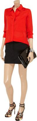 Alexander Wang Stretch-cotton twill mini skirt
