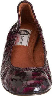 Lanvin Stamped Patent Ballet Flat