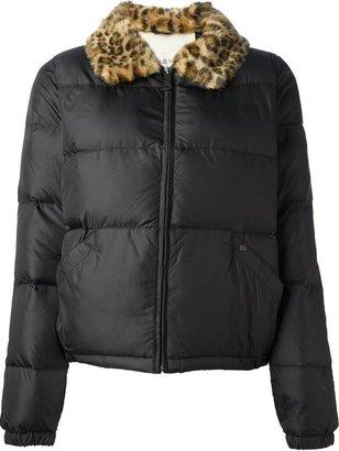 Denim & Supply Ralph Lauren leopard collar padded jacket