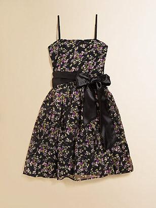 Un Deux Trois Girl's Floral Print Party Dress