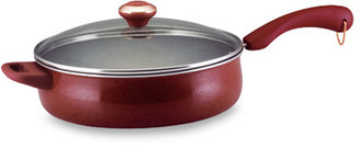 Paula Deen Red Non-Stick 5-Quart Saute Pan with Lid