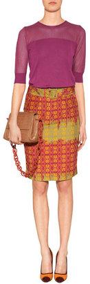Sophie Theallet Berry/Tangerine Silk Knit Top