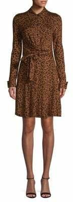 Diane von Furstenberg Printed Shirtdress Silk Dress