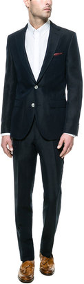 Zara Soft Blue Cotton/Ramie Suit