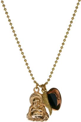 Sam Ubhi Gold Buddha Charm Necklace