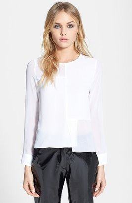Topshop Seam Detail Paneled Top