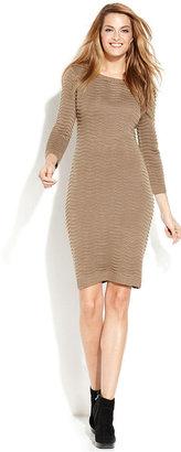 Calvin Klein Long-Sleeve Ribbed Sweater Dress