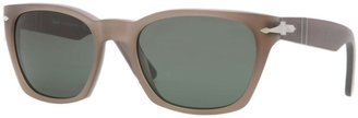 Persol Square Plastic Sunglasses, Beige Antique