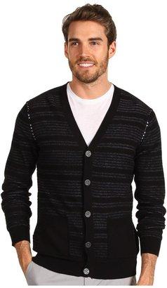 Calvin Klein Jeans Reverse Stripe Cardigan (Black) - Apparel