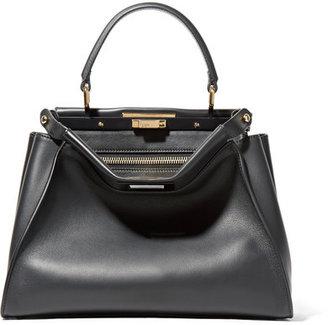 Fendi - Peekaboo Medium Leather Tote - Black $4,100 thestylecure.com