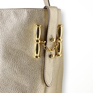 Ralph Lauren Grain Leather Chain Tote