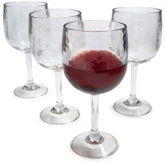 Sur La Table Hammered Acrylic Wine Glasses, Set of 4