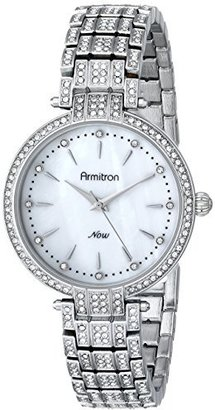 Armitron Women's 75/5252MPSV Swarovski Crystal-Accented Silver-Tone Bracelet Watch $125 thestylecure.com