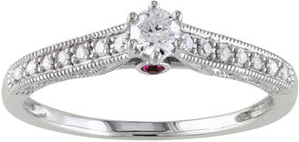 MODERN BRIDE 1/6 CT. T.W. Diamond & Pink Sapphire Engagement Ring