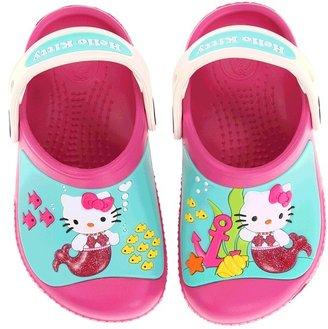 Crocs Creative Hello Kitty Clog (Toddler/Little Kid) (Fuchsia/Oyster) - Footwear