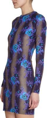 Christopher Kane Fitted Floral Dress