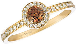 LeVian Chocolate Diamond; Ring in 14 Kt. Honey Gold