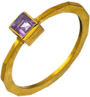 Wendy Mink Amethyst Square Bezel Ring