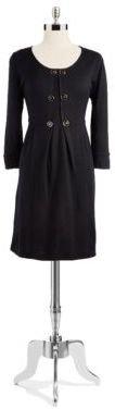 Tahari ARTHUR S. LEVINE Pleated Long-sleeved Dress