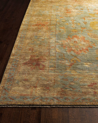 Exquisite Rugs Victorian Oushak Rug 5'6 x 8'6