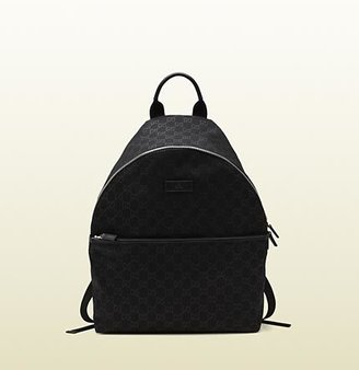 Gucci Medium Black Nylon Guccissima Backpack