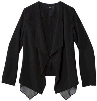 Mossimo Women's Draped Front Blazer - Black