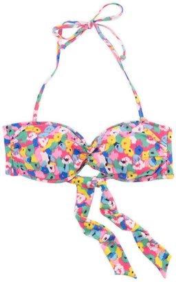 aerie Floral Bandeau Bikini Top