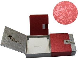 "Dahlia Vine Spiral Peach Pink Cultured Pearl Cubic Zirconia Silver Pendant (16"")"