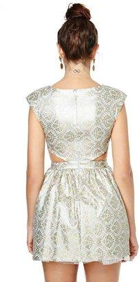 Nasty Gal Contessa Brocade Dress