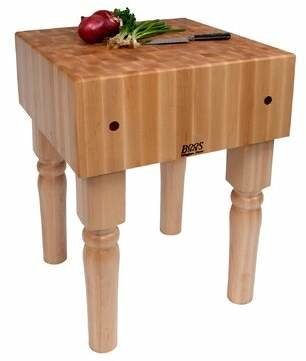 "John Boos BoosBlock® Prep Table Size: 18"" W x 18"" D"