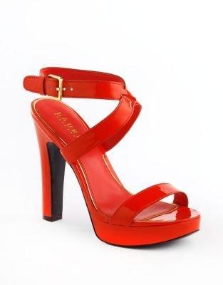 Lauren Ralph Lauren Faythe Leather Platform Sandals