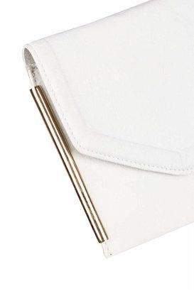 Topshop Leather side bar clutch bag