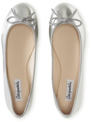 Aeropostale Solid Shine Ballet Flat