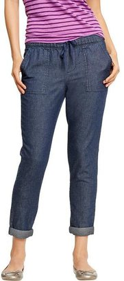 Old Navy Women's Chambray Pull-On Pants