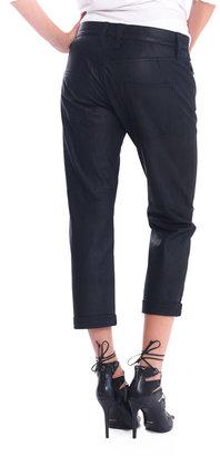 Current/Elliott The Boyfriend Leather Pants - Jet Black