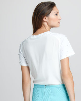 3.1 Phillip Lim Embroidered Jersey Top
