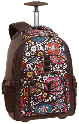 PBteen 4504 Gear-Up Floral Medallion Rolling Backpack