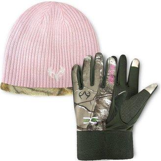 Jacob ash hot shot camo reversible hat & texting gloves set